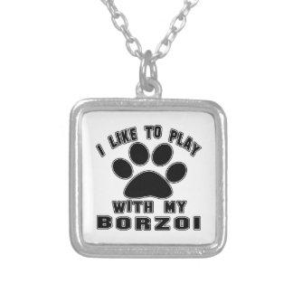 Jag gillar för att leka med min Borzoi. Anpassningsbar Halsband