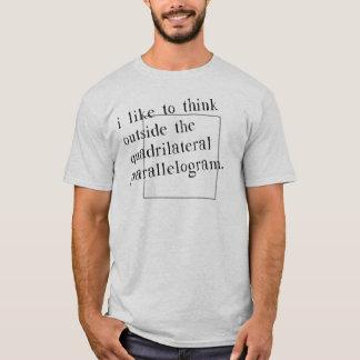Jag gillar för att tänka yttersidan boxas t shirt