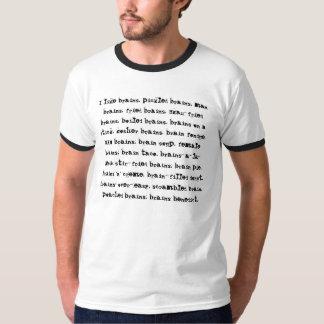 Jag gillar hjärnor t-shirt
