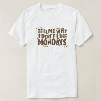 Jag gillar inte Måndagar poppar kulturtypografi T Shirt