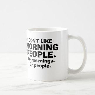 Jag gillar inte morgonfolk mugg