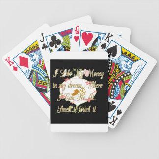 Jag gillar min pengar i min drömmar var I Can. Spelkort