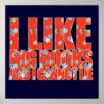 Jag gillar stora bokar, och jag kan inte ljuga posters