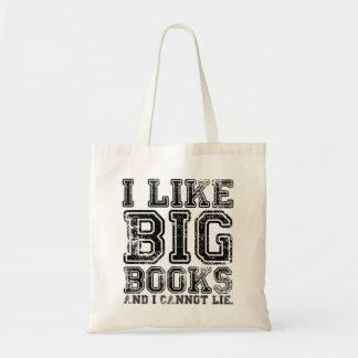 Jag gillar stora bokar, och jag kan inte ljuga budget tygkasse