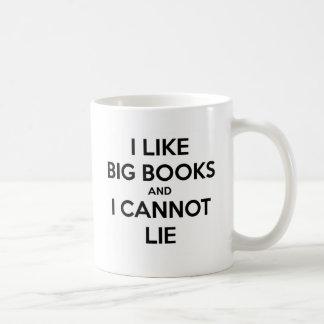 Jag gillar stora bokar, och jag kan inte ljuga kaffemugg