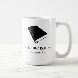 Jag gillar stora bokar som jag inte kan ljuga kaffemugg