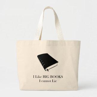 Jag gillar stora bokar som jag inte kan ljuga toto jumbo tygkasse