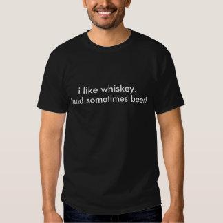 jag gillar whiskey., (och ibland öl) tröjor