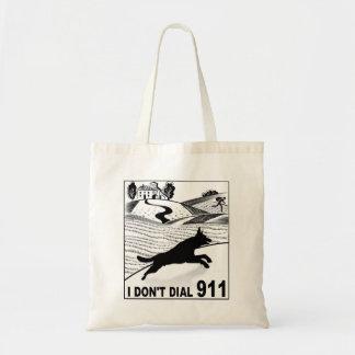 Jag gör inte ringer 911 tygkasse