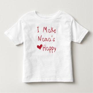 Jag gör Nanas hjärta (den röda) lyckliga T-tröja, T-shirt