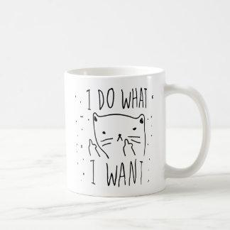 Jag gör vad jag önskar kaffemugg