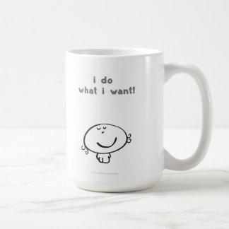 jag gör vad jag önskar! kaffemugg