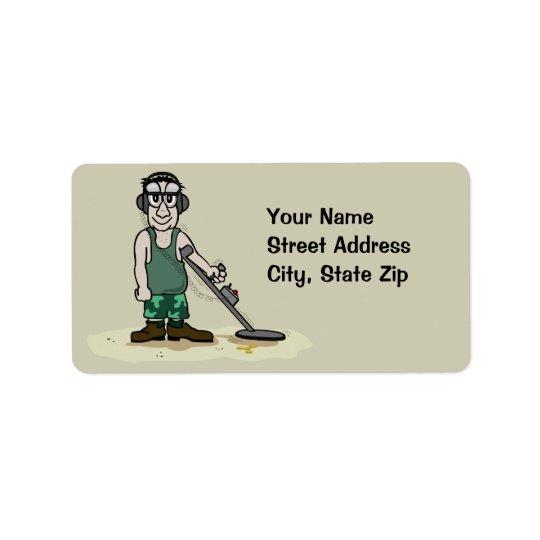 Jag gräver bootymetall som avkänner adressetikett