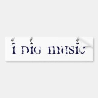 Jag gräver påskyndad musik bildekal