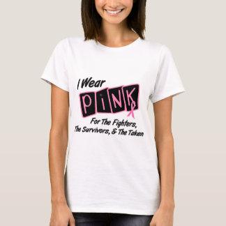 Jag ha på sig det rosa bandet för bröstcancer för t-shirt