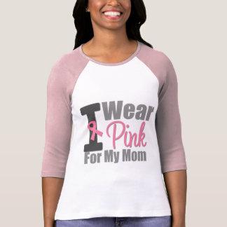 Jag ha på sig det rosa bandet för min mamma t-shirts