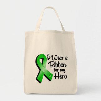 Jag ha på sig ett grönt band för min hjälte mat tygkasse