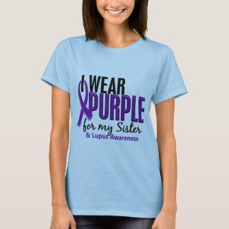 Jag ha på sig lilor för min Lupus för syster 10 T-shirt