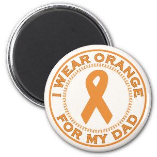 Jag ha på sig orangen för min pappa magneter