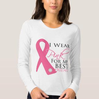 Jag ha på sig rosa bästa vänbröstcancer tee shirts