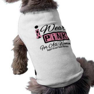 Jag ha på sig rosa bröstcancer för alla (Retro) kv Kläder För Husdjur