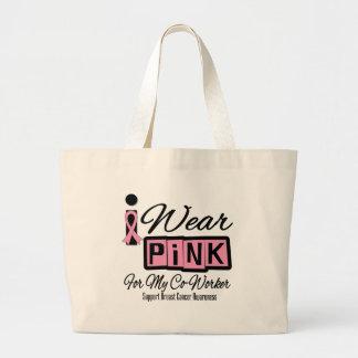Jag ha på sig rosa (den Retro) bröstcancermedarbet Tote Bags