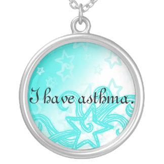 Jag har astmahalsbandet silverpläterat halsband