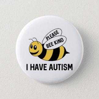 Jag har Autism Standard Knapp Rund 5.7 Cm