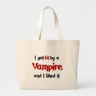 Jag har bet vid en vampyr tote bags