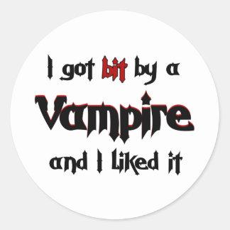 Jag har bet vid en vampyr runt klistermärke
