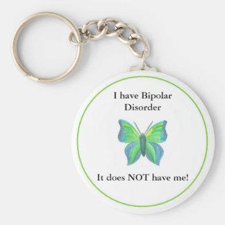 Jag har bipolär oordning,… som den INTE har mig! Rund Nyckelring