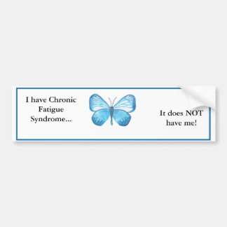 Jag har CFS,… som den INTE har mig! Bildekal