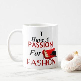 Jag har en passion för modeklassikermugg kaffemugg