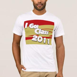 Jag har klassificerar (granatrött 2011 och guld) t-shirt