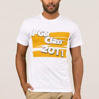 Jag har klassificerar (guld 2011 och vit) t-shirt