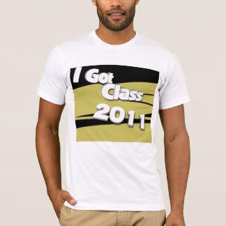 Jag har klassificerar (svart 2011 och guld) tshirts