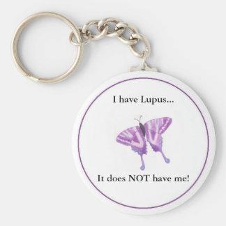 Jag har Lupus,… som den INTE har mig! Rund Nyckelring