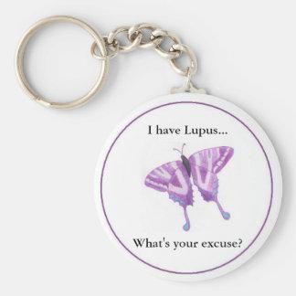 Jag har Lupus… vad är din ursäkt? Rund Nyckelring