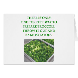 jag hatar broccoli hälsningskort