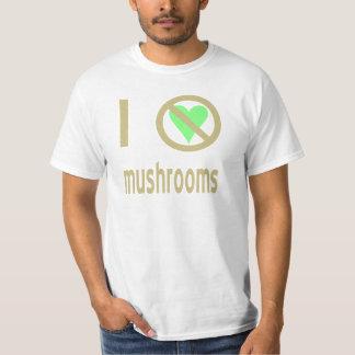 Jag hatar champinjoner tee shirts