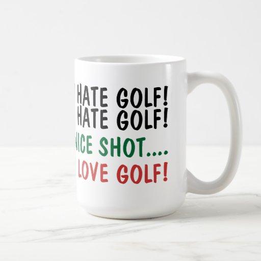 Jag hatar Golf! Jag älskar Golf! Mugg