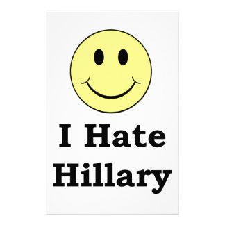 Jag hatar Hillary lyckligsmiley face Brevpapper