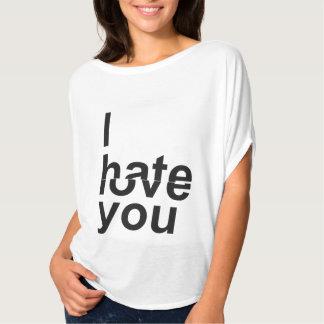 Jag hatar/kärlek dig t shirt