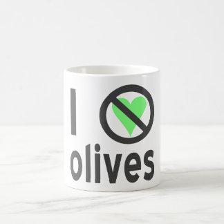Jag hatar oliv (svarten) kaffemugg