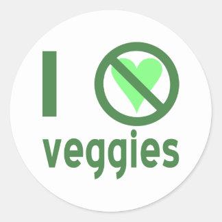 Jag hatar Veggies Runt Klistermärke