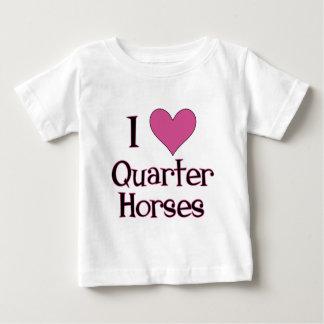 Jag hjärta inkvarterar hästar t shirts