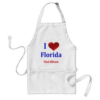 Jag hjärta (kärlek) Florida flydde Illinois Förkläde