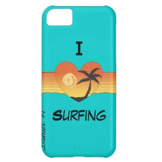Jag hjärta som surfar fodral för iPhone 5C fodral