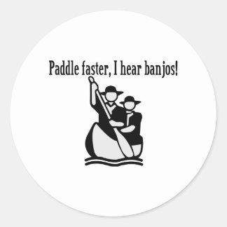 Jag hör Banjos Runt Klistermärke