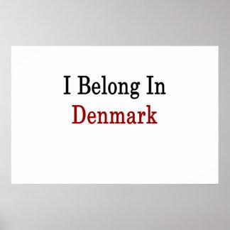 Jag hör hemma i Danmark Posters